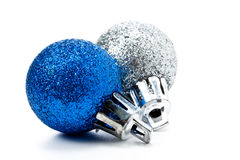Christmas balls. Some christmas balls on a white background Stock Image