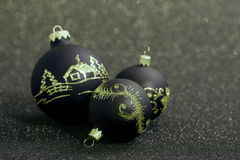 Christmas balls. On a beautiful background with shallow depth of field Stock Photography
