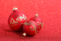 Christmas balls. On a beautiful background with shallow depth of field Stock Photo