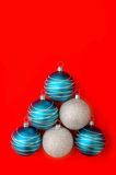 Christmas balls. Blue and silver Christmas balls Stock Photography