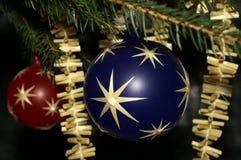 Christmas balls. Detail of christmas balls on a tree Royalty Free Stock Photography