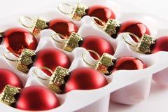 Christmas balls. Blister Royalty Free Stock Photo