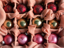 Christmas balls. In box Royalty Free Stock Image