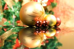 Christmas balls. Beautiful christmas balls , over background Royalty Free Stock Photography