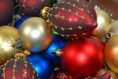 Christmas balls. Chrismas balls on gold and siver background stock images