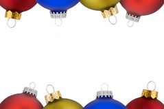 Christmas balls. Isolated over a white background royalty free stock photos