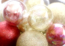 CHRISTMAS BALLS. CHRISTMAS TREE BALLS Royalty Free Stock Photo