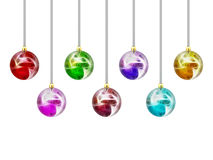 Christmas balls. Isolated on a white background. High resolution 3D image Stock Photo