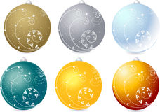 Christmas balls. Christmas winter  background - collection of christmas balls Royalty Free Stock Photography