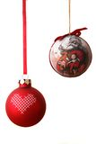 Christmas Balls. On white background stock photo