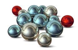 Christmas balls. Computer generated 3D xmas balls Royalty Free Illustration
