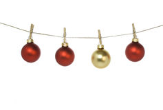 Christmas balls Stock Images