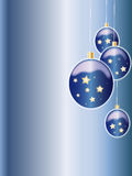 Christmas balls. Christmas blue background with balls Royalty Free Stock Images