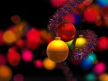 Christmas Balls. On Blurry Background Royalty Free Stock Images