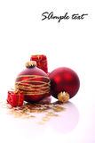 Christmas balls. And place for sample text Royalty Free Stock Photography
