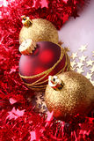 Christmas balls. Christmas  balls (red and gold Royalty Free Stock Photos