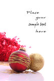 Christmas balls. Christmas  balls and place for sample text Stock Photo