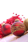 Christmas balls. Christmas  balls (red and gold Stock Photo