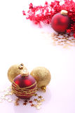 Christmas balls. Christmas  balls (red and gold Stock Photos