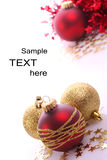 Christmas balls. Christmas  balls and place for sample text Royalty Free Stock Photography