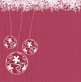 Christmas balls. Vector illustration of Christmas balls with snowflakes Stock Photography
