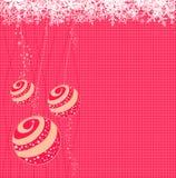 Christmas balls. Vector illustration of Christmas balls with snowflakes Royalty Free Stock Image
