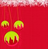 Christmas balls. Vector illustration of Christmas balls with snowflakes Stock Photos