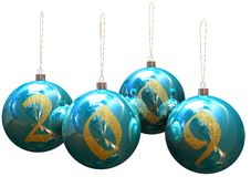 Christmas balls. Image of 3d christmas balls. White background Royalty Free Illustration