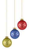 Christmas balls. On white background. FIND MORE christmas ornaments in my portfolio Stock Image
