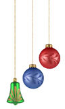 Christmas balls. On white background. FIND MORE christmas ornaments in my portfolio Royalty Free Stock Photography