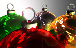 Christmas balls. Background gold silver  red and green Royalty Free Stock Photo