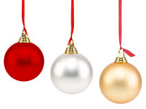 Christmas Balls. Isolated on white Royalty Free Stock Image