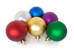 Christmas balls. Varicoloured christmas balls on white background Royalty Free Stock Photo