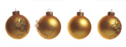 Christmas balls. Christmas decoration balls (all sides&#x29 Stock Photo