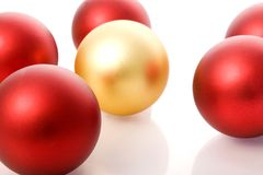 Christmas balls. Red and yellow christmas balls Royalty Free Stock Photo
