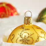 Christmas Balls. Stored in Tissue Paper. Shallow DOF stock image