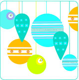 Christmas balls. Illustration of orange and green Christmas balls Stock Illustration