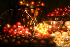 Christmas balls. In a composition royalty free stock image