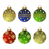Christmas balls. Christmas, collection of colorful glass balls Royalty Free Stock Image