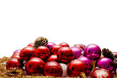 Christmas Balls. On white background stock photography