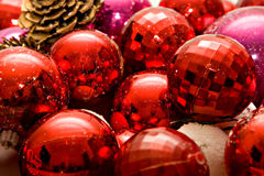 Christmas Balls. Red Christmas Balls close-up stock images