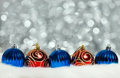Christmas balls on abstract background Royalty Free Stock Image