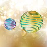 Christmas balls on abstract background. EPS10 Royalty Free Stock Images