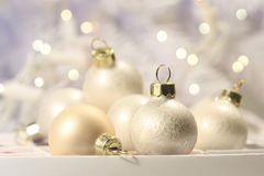 Christmas balls on abstract background Royalty Free Stock Photos