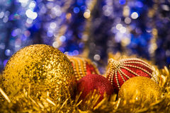 Christmas balls on abstract background Royalty Free Stock Images