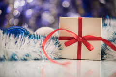 Christmas balls on abstract background Stock Photography