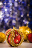Christmas balls on abstract background Royalty Free Stock Photography