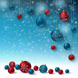 Christmas balls on abstract background. Realistic vector illustration Royalty Free Stock Image