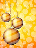 Christmas balls abstract bokeh Stock Photos