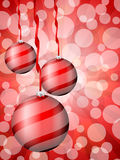 Christmas balls abstract bokeh red Stock Photo